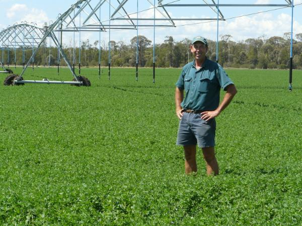 Ken Schmidt has found the winter active lucerne Titan 9 to be one of the better performers on the farm